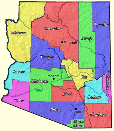Map Of Arizona Please.Check Your Water Supply