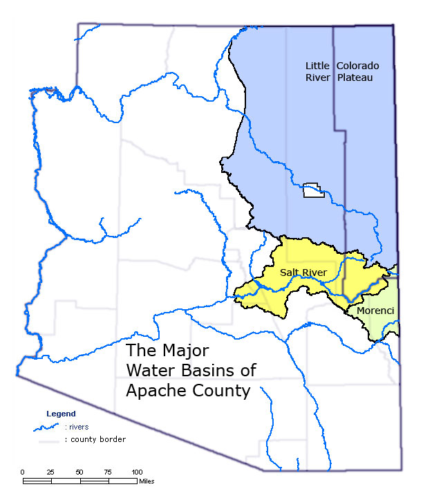 Apache County Arizona Map.Check Your Water Supply Apache County