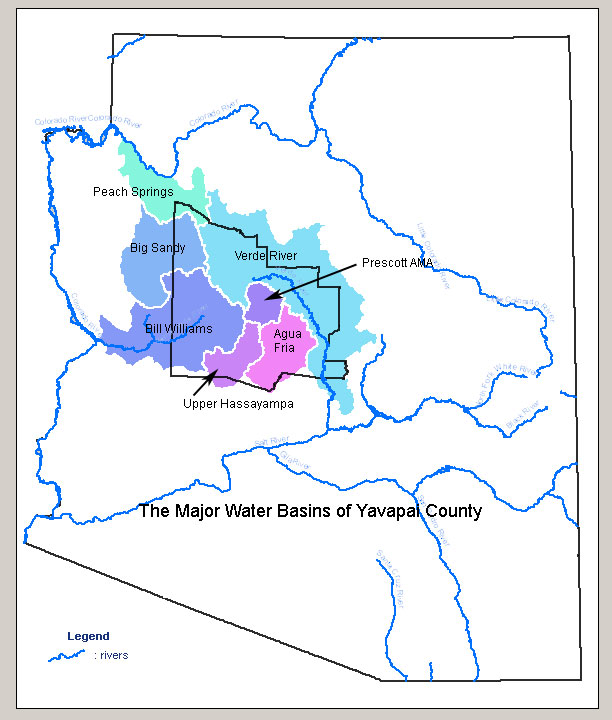 Map Of Arizona Prescott.Check Your Water Supply Yavapai County